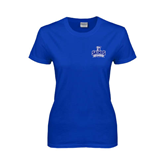 Ladies Royal T Shirt-Our Lady of the Lake University Athletics - Offical Logo