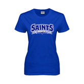 Ladies Royal T Shirt-Saints - Our lady of the Lake University