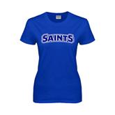 Ladies Royal T Shirt-Saints