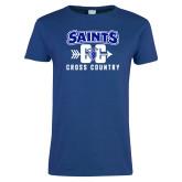 Ladies Royal T Shirt-Cross Country Design