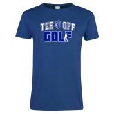Ladies Royal T Shirt-Tee Off Golf Design