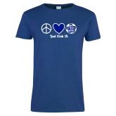 Ladies Royal T Shirt-Just Kick It Soccer Design