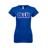 Next Level Ladies SoftStyle Junior Fitted Royal Tee-OLLU