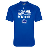 Under Armour Royal Tech Tee-Game. Set. Match. Tennis Design