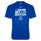 Under Armour Royal Tech Tee-Game. Set. Match. Tennis Design