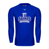 Under Armour Royal Long Sleeve Tech Tee-Our Lady of the Lake University Athletics - Offical Logo