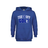 Youth Royal Fleece Hoodie-Tee Off Golf Design