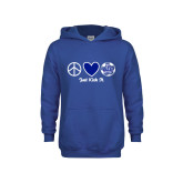 Youth Royal Fleece Hoodie-Just Kick It Soccer Design