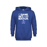 Youth Royal Fleece Hoodie-Game. Set. Match. Tennis Design
