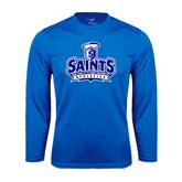 Performance Royal Longsleeve Shirt-Our Lady of the Lake University Athletics - Offical Logo