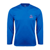 Performance Royal Longsleeve Shirt-OLLU Saints