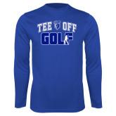 Performance Royal Longsleeve Shirt-Tee Off Golf Design