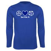 Performance Royal Longsleeve Shirt-Just Kick It Soccer Design