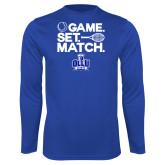 Performance Royal Longsleeve Shirt-Game. Set. Match. Tennis Design