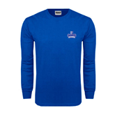 Royal Long Sleeve T Shirt-Our Lady of the Lake University Athletics - Offical Logo