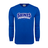 Royal Long Sleeve T Shirt-Saints - Our lady of the Lake University