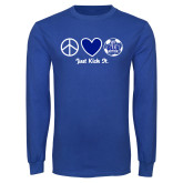 Royal Long Sleeve T Shirt-Just Kick It Soccer Design