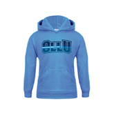 Youth Light Blue Fleece Hoodie-OLLU