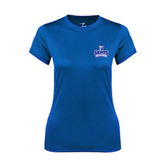 Ladies Syntrel Performance Royal Tee-Our Lady of the Lake University Athletics - Offical Logo