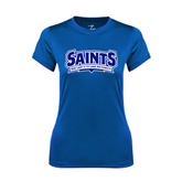 Ladies Syntrel Performance Royal Tee-Saints - Our lady of the Lake University