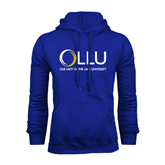 Royal Fleece Hoodie-OLLU Our Lady of the Lake University Stacked