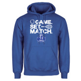 Royal Fleece Hoodie-Game. Set. Match. Tennis Design