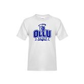 Youth White T Shirt-OLLU Saints