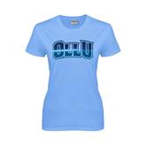Ladies Sky Blue T Shirt-OLLU