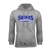 Grey Fleece Hoodie-Saints - Our lady of the Lake University