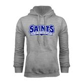 Grey Fleece Hoodie-Saints - Our lady of the Lake University