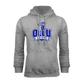 Grey Fleece Hoodie-OLLU Saints