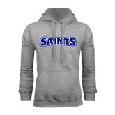 Grey Fleece Hoodie-Saints