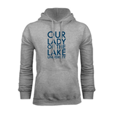 Grey Fleece Hoodie-Our Lady of the Lake Stacked