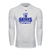 Under Armour White Long Sleeve Tech Tee-Our Lady of the Lake University Athletics - Offical Logo