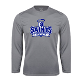 Performance Steel Longsleeve Shirt-Our Lady of the Lake University Athletics - Offical Logo