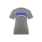Youth Syntrel Performance Steel Training Tee-Saints - Our lady of the Lake University
