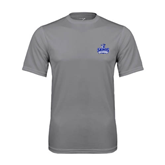Performance Grey Concrete Tee-Our Lady of the Lake University Athletics - Offical Logo