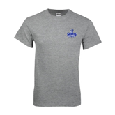 Grey T Shirt-Our Lady of the Lake University Athletics - Offical Logo