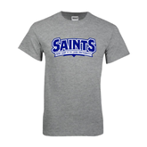 Grey T Shirt-Saints - Our lady of the Lake University