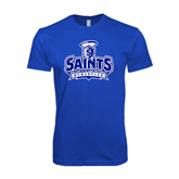 Next Level SoftStyle Royal T Shirt-Our Lady of the Lake University Athletics - Offical Logo