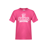 Youth Cyber Pink T Shirt-Our Lady of the Lake University Athletics - Offical Logo