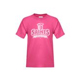 Youth Fuchsia T Shirt-Our Lady of the Lake University Athletics - Offical Logo