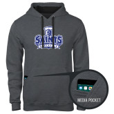 Contemporary Sofspun Charcoal Heather Hoodie-Our Lady of the Lake University Athletics - Offical Logo