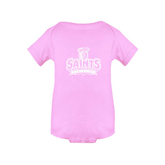 Light Pink Infant Onesie-Our Lady of the Lake University Athletics - Offical Logo