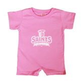 Bubble Gum Pink Infant Romper-Our Lady of the Lake University Athletics - Offical Logo