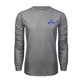 Grey Long Sleeve T Shirt-Our Lady of the Lake University Athletics - Offical Logo