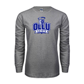 Grey Long Sleeve T Shirt-OLLU Saints