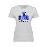Ladies White T Shirt-OLLU Saints