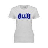 Ladies White T Shirt-OLLU