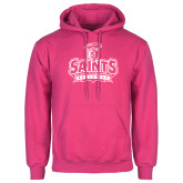 Fuchsia Fleece Hoodie-Our Lady of the Lake University Athletics - Offical Logo